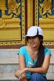 寺庙的门在Wat Phra的那Phanom声浪素林泰国 免版税库存图片