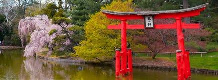 寺庙的门是日本 库存照片