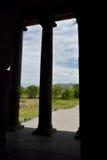 寺庙的细节在Garni 免版税库存照片