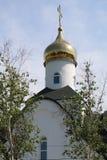 寺庙的Golden Dome 库存图片