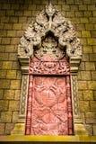 寺庙窗口的建筑学 免版税图库摄影