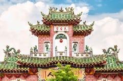 寺庙美丽的门面在越南,亚洲。 免版税库存图片
