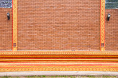 寺庙美好的砖块背景  免版税库存图片