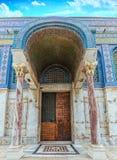 寺庙耶路撒冷的铜门 库存照片