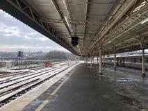寺庙蜂蜜酒火车站,布里斯托尔 免版税库存照片