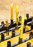 寺庙蜡烛 库存图片