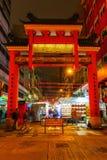 寺庙街道夜市场在香港 图库摄影