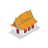 寺庙设计等轴测图小模式 免版税库存图片