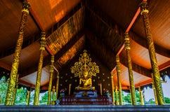 寺庙诗琳通Wararam Phuproud,艺术性,泰国,公众pl 免版税库存图片
