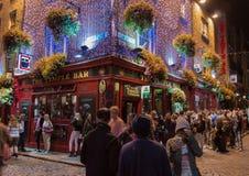 寺庙酒吧客栈在夜之前 免版税库存图片