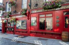寺庙酒吧客栈在都伯林,爱尔兰 免版税图库摄影