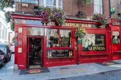 寺庙酒吧客栈在都伯林,爱尔兰 库存图片