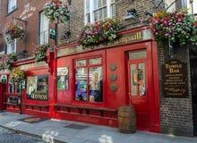 寺庙酒吧客栈在都伯林,爱尔兰 库存照片