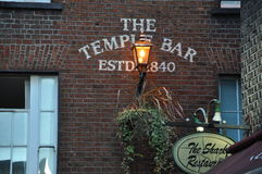 寺庙酒吧客栈在都伯林 免版税图库摄影