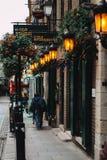 寺庙酒吧的爱尔兰客栈 库存图片