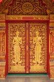 寺庙门,泰国 免版税库存图片
