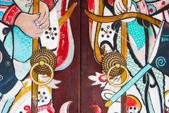 寺庙门细节 免版税库存图片