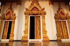 寺庙门 库存照片