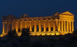 寺庙阿哥里根托西西里岛意大利欧洲的一致谷寺庙  库存图片