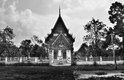 寺庙黑白样式 免版税库存照片