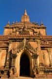 寺庙,在缅甸(Burmar)的Bagan 免版税库存照片