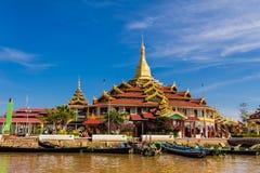 寺庙,缅甸的(Burmar) inle湖 库存图片