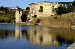 寺庙,阿波罗, averno,湖, baia,那不勒斯,意大利 免版税库存照片