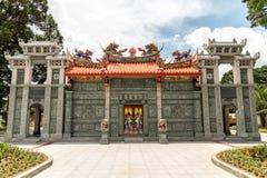 寺庙6月11日,在马尼拉中国公墓,马尼拉,发埃的道士 免版税库存图片