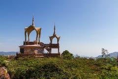 寺庙建筑学在泰国 免版税库存图片