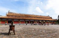 寺庙建筑学颜色古老城堡,越南 库存照片
