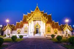 寺庙(Wat Benchamabophit),曼谷,泰国 免版税图库摄影