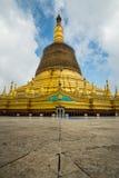 寺庙bagan在日出, Bagan,缅甸 库存照片