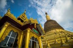 寺庙bagan在日出, Bagan,缅甸 库存图片