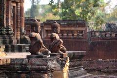 寺庙Banteay Srei在吴哥 免版税库存照片