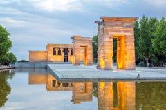 寺庙de debod马德里 免版税图库摄影