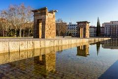 寺庙debod在马德里西班牙 库存图片