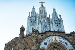 寺庙del Sagrat Cor,巴塞罗那 西班牙2016年 库存照片