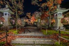 寺庙Eikando在晚上 库存照片