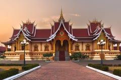 寺庙Pha Luang,老挝 库存照片