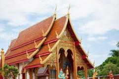 寺庙Phayao,泰国 免版税库存图片