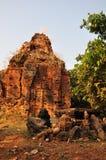 寺庙Phnom Bakheng,吴哥,柬埔寨 免版税图库摄影
