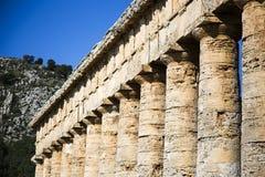 寺庙Segesta 7 库存照片