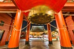 寺庙Senso籍在浅草,东京,日本 库存图片