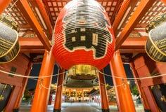 寺庙Senso籍在浅草,东京,日本 免版税库存照片