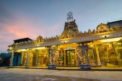 寺庙Sri Mangalanayagi阿曼Devasthanam,大山脚与 库存图片