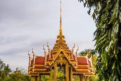 寺庙Suan Luang Rama IX公园,曼谷亭子地标  免版税库存图片