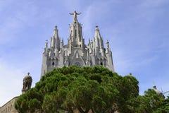 寺庙Tibidabo,巴塞罗那 免版税图库摄影