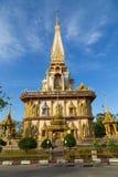 寺庙Wat查龙,普吉岛 泰国 库存照片