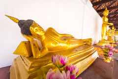 寺庙Wat Phra那Haripunchai在南奔 免版税库存照片