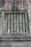 寺庙Wat Phu的细节在老挝 免版税库存图片